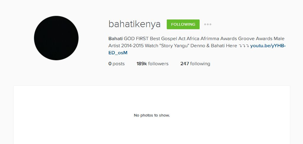 Bahati instagram
