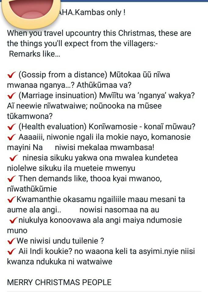 Kamba speculations