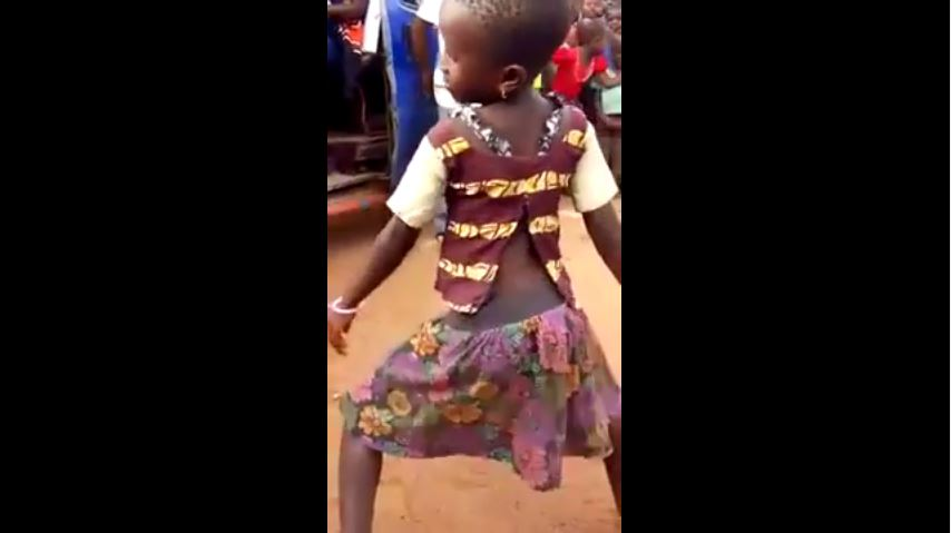 young girl gyrating