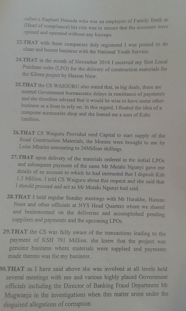 big fat liar  new affidavit suggest waiguru and mutahi