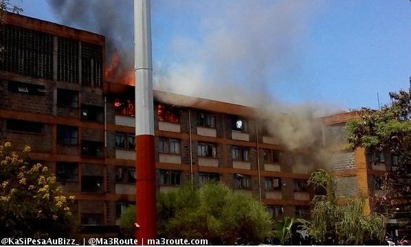 Photos Jkuat S Men S Hostel Goes Up In Flames