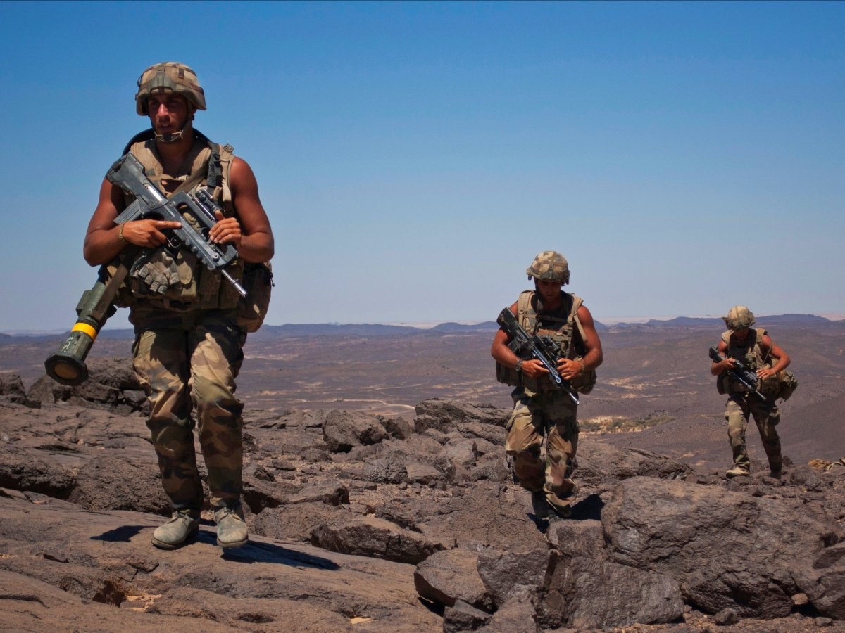 French soldiers patrol in the Terz valley, about 37 miles south of the town of Tessalit in northern Mali on March 20, 2013.(Stringer/REUTERS)