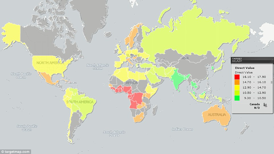 Dick size around the world