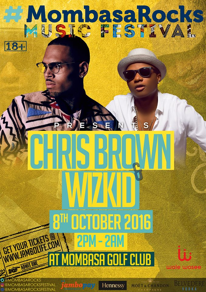 Chris Brown Set To Rock Mombasa Next Week-This is The Ticket Price