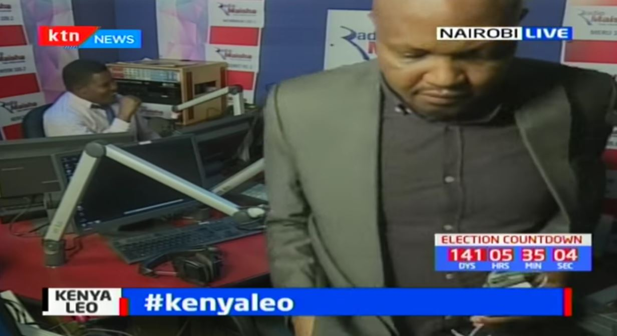 RAW VIDEO: Moses Kuria Walks Out of Another Live Interview