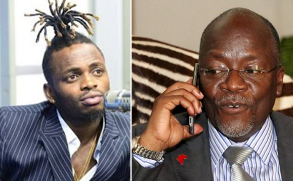Watch The Moment President Magufuli Phoned Diamond Platnumz On Live TV VIDEO
