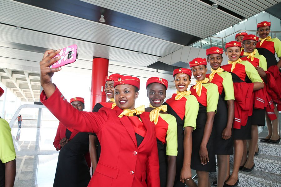 Photos of SGR Trains Hostesses That Are Ready To Serve You
