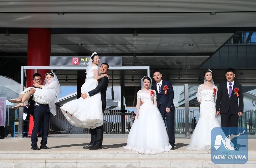 PHOTOS – Chinese Couples Stage Mass Wedding at SGR Nairobi Terminus
