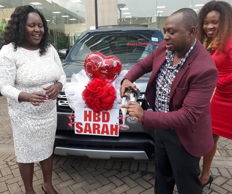 Kenyan millionaire gifts wife a range rover as birthday present.