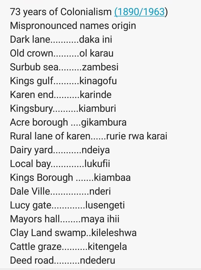 Hilarious - 40+ Kenyan Towns and the Origin of their Names