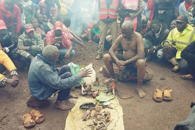 Witch doctors are hunting bald men to use in magic potions