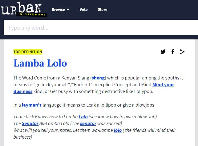 Lamba Lolo' Makes It To The International Urban Dictionary