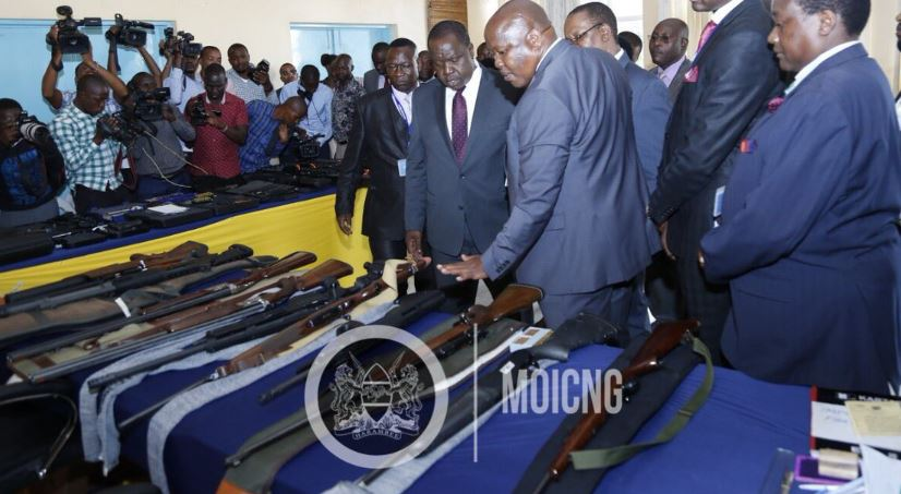 Number of Guns the Govt has Recovered in 2 Years